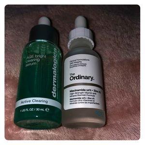 Dermalogica age bright clearing serum & Ordinary